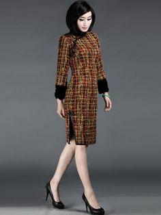 Wool Qipao / Cheongsam / Chinese Evening Dress for Winter