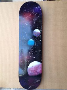 Homemade. skateboard. Spray paint. Art. Galaxy art. To buy go to IG@galexyco