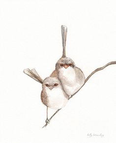 Hey, I found this really awesome Etsy listing at https://www.etsy.com/listing/96995356/together-wren-bird-watercolor-print