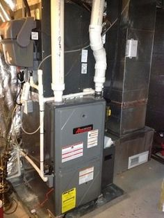 Gas forced air furnace diagram shows direction of airflow - Swimming pool heat pump vs gas heater ...
