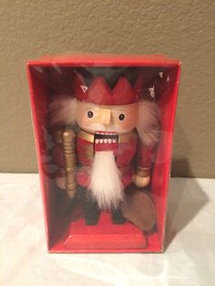 Vintage NEW in Box 6 Collectible Red Nutcracker by KMSCollectibles