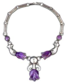 Necklace | William Spratling.  Sterling silver and amethyst.  ca. 1930s