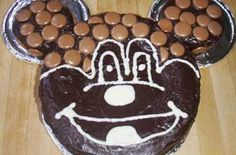 Mickey Mouse birthday cake We love Grainne's chocolate birthday cake that she decorated to look like Mickey Mouse. Why not send in your birthday cake pictures and recipes to our Cake Corner?
