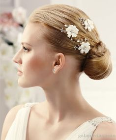 creacionesmila: Novias con flores en el pelo