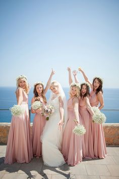 Halfpenny London Lace and Shades of Blush Pink for a Wedding in Ibiza. Photography by Gypsy Westwood.