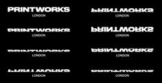 New Logo and Identity for Printworks by Only (All logo variations)