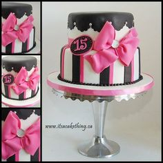 Pretty cake for 15th birthday party 15th Pinterest Discover
