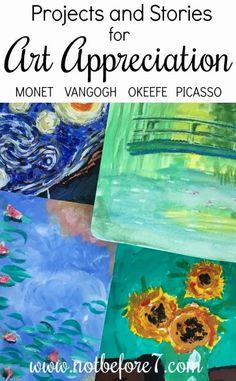 Art Appreciation Through Projects and Stories - Homeschooling with Mary Hanna Wilson Art History Lessons, Art Lessons, Art Montessori, Montessori Elementary, Arte Van Gogh, Classe D'art, 7 Arts, Ecole Art, Teaching