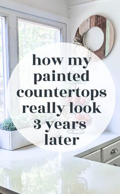 Painting countertops is an inexpensive way to update ugly, dated laminate countertops. But do painted countertops really last in a family kitchen? Are painted countertops durable? I'm sharing an honest update on the good and the bad of how our painted countertops are holding up after three years of use. Kitchen On A Budget, Family Kitchen, Mary's Kitchen, Kitchen Ideas, Basement Kitchen, Island Kitchen, Kitchen Paint, Kitchen Inspiration, Room Inspiration