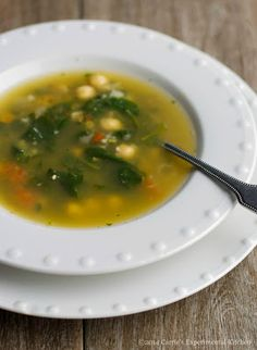 This Spinach & Chick Pea Soup was very flavorful and as an added bonus, is low in sugar, contains no saturated fats and is high in vitamins A, B6 and fiber.