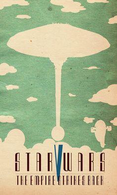 Star Wars V: The Empire Strikes Back minimal poster by Travis English
