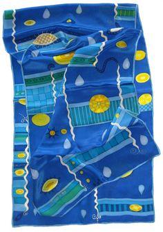 Seidenschals - Handbemalter Seidenschal - ein Designerstück von ticinese bei DaWanda