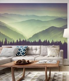 Mountain View Photograph Peel and Stick Oversize by AccentuWall