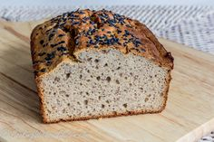 This Buckwheat bread is not only gluten free, but also grain, dairy, nut, starches, yeast, gums, added oils and sugar free. The list of ingredients is short and has products which can be found in e…