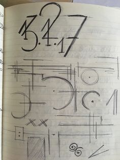 Fonts ideas, doodles in the sketchbook