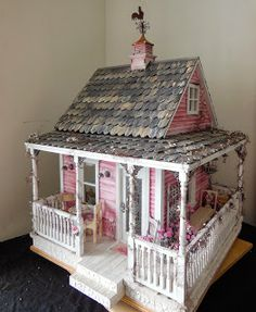Shabby Chic Miniature Cottage by Jodi of My Mini Hobby blog