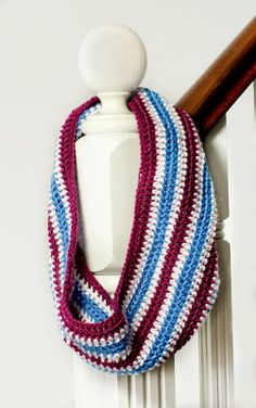 My Favourite Things: Colour My World ~ Basic Multi-Coloured Cowl Pattern