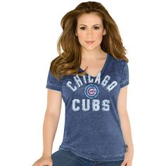 Chicago Cubs Ladies Fire Drill V-Neck T-Shirt by Touch by Alyssa Milano $29.95 @Chicago Cubs