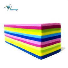 Polymer clay cane multicolored rectangle stripes  by by marsdesign