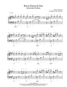 River Flows In You by Yiruma Piano Sheet Music | Intermediate Level