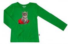 Groen kitty shirt