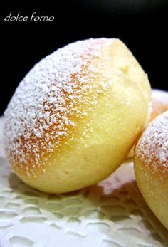 Baked doughnuts / dolce forno: Krapfen al forno Italian Desserts, Italian Recipes, Baking Recipes, Dessert Recipes, Cocktail Desserts, Sweet Bread, Love Food, Sweet Recipes, Food To Make