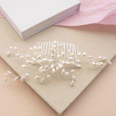 Bud Pearl Hair Comb Bridal Hair Accessories Wedding Headdress Bridesmaid Handmade Wedding Ivory Pearl Hair Comb Silver Hair Clip Vintage