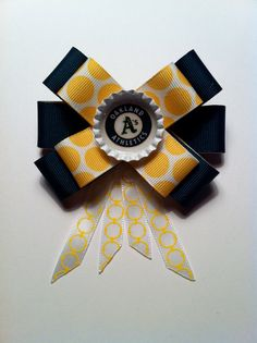 Oakland Athletic's Hair Bow