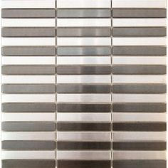 "5/8"" x 3 7/8"" Stainless steel & black stainless steel bricks mosaic tile"