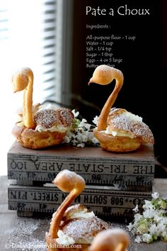 Kat of The Bobwhites was our August 2012 Daring Baker hostess who inspired us to have fun in creating pate a choux shapes, filled with ...