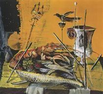 Christo Coetzee, Pompeian Lobster, 1954 - Christo Coetzee - Wikipedia, the free encyclopedia Still Life Art, Art Database, Cool Art, Art Pieces, Cool Stuff, Drawings, Illustration, Artwork, Artist