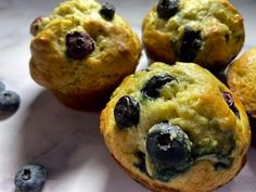 It's super easy and these muffins can be your breakfast for the next week! Blueberry Delight, Banana Blueberry Muffins, Breakfast Items, Something Sweet, Muffin Recipes, Kitchen Recipes, Sour Cream, Baking Soda, Cooking