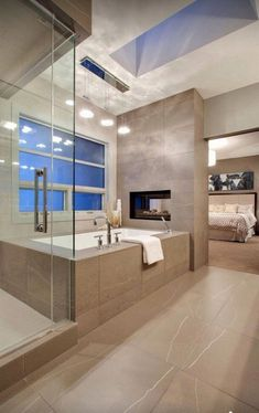 100 Inclination Modern Tub Bathroom Decor Ideas Home Home, Bathroom Remodel Master, Bathroom Makeover, Modern Bathroom, Modern Tub, Master Bedroom Bathroom, Contemporary Bathroom Designs, Luxury Bathroom, Beautiful Bathrooms
