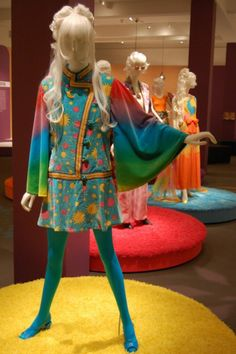 "HIPPIE CHIC - A psychedelic 1970 tunic jacket by Yosha Leeger, who was involved in the Beatles' short-lived retail shop, the Apple Boutique, before opening The Chariot, and its label ""Cosmic Couture,"" in Los Angeles with Barry Simon. (Greg Cook)"