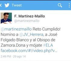 Maíllo se moja por la ELA y reta al Obispo de Zamora