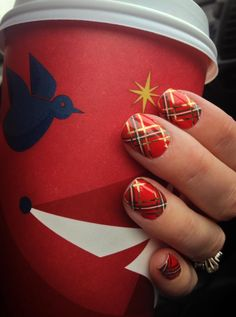 Christmas Plaid and Coffee... Two of my favorite things :)