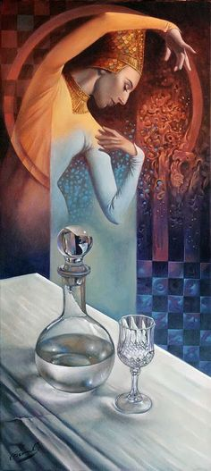 """# 50   Formula of Utter Thirst 30"""" x 14"""", oil on canvas, 2013"""