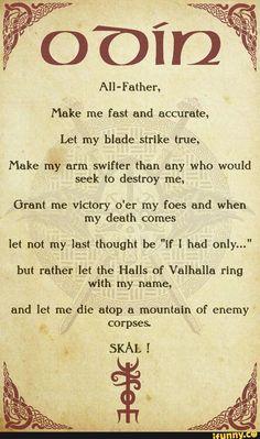 A Viking Norse Prayer To Odin By FantasySkyArt Photography. Norse Mythology Tattoo, Norse Tattoo, Viking Tattoos, Rune Tattoo, Wiccan Tattoos, Inca Tattoo, Tattoo Symbols, Norse Runes, Norse Pagan