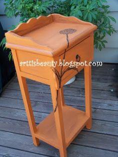 Sweet Allium orange side table