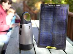 All-In-One Integrated Solar Kit.  Have your own portable wall outlet wherever you go.  Bring on the blackouts. The Escape150 is ideal for powering up lights, cellphones or laptops. Versatile applications & use. Use with USB, 12V and AC outputs.    Just add sun. The solar panel can recharge the power pack in about 10-20 hours.  Want to recharge faster? Add an additional solar panel and cut the recharge time in half.  $359.99