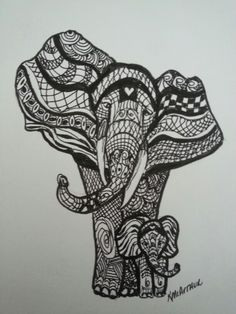 This site contains information about cute elephant doodle. Zentangle Elephant, Elephant Doodle, Elephant Canvas, Cute Elephant, Baby Tattoos, Tatoos, Cover Tattoo, I Tattoo, Boots Christmas Gifts
