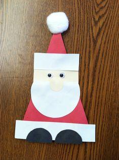 Geometric Santa craft | Crafts and Worksheets for Preschool,Toddler and Kindergarten