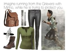 """Minho Imagine"" by book-girl-4 ❤ liked on Polyvore featuring J Brand, Doublju, Steve Madden, H&M, Burberry, imagine, movies, MazeRunner, books and minho"