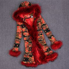 Love Couture By Lourdes Women Long Raccoon Fur Coat Fur Mex