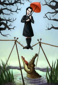 wednesday-addams-family-stretching-room-portraits