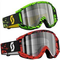 2014 Scott Recoil Xi Pro Throttle Chrome Works Dirt Bike Off-Road Motocross Goggle