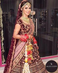 My signature bridal makeup👰🏻❤️ What do you guys think about it? Wedding Lehenga Designs, Designer Bridal Lehenga, Indian Bridal Lehenga, Indian Bridal Outfits, Indian Bridal Fashion, Indian Bridal Wear, Indian Dresses, Bridal Dresses, Bengali Wedding