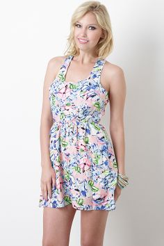 Painted Blossom Dress #floral