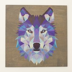 Reclaimed Print Co | We print on wood | Bright Wolf