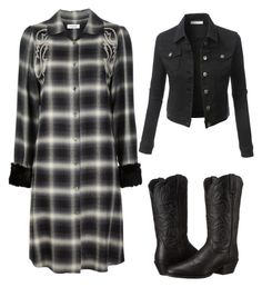"""""""Western look"""" by im-karla-with-a-k ❤ liked on Polyvore featuring Christian Dada, Ariat and LE3NO"""